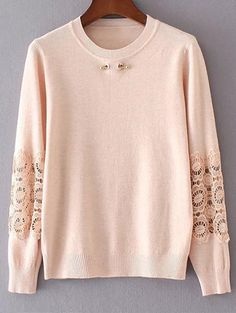 SHARE & Get it FREE | Lace Spliced SweaterFor Fashion Lovers only:80,000+ Items • New Arrivals Daily Join Zaful: Get YOUR $50 NOW!