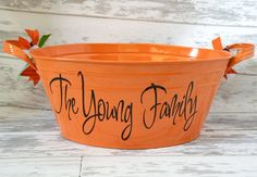 Personalized Halloween Tub