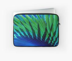 Palm Shadows Laptop Sleeve by PolkaDotStudio on Redbubble, #photographic #digital #contemporary #tropical #palm #abstract #art on #trendy #fashion #tech #accessory #laptop #sleeves for #travel protection #office #school #home or special #gift.