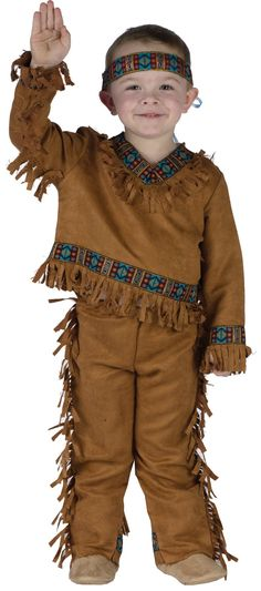 American Indian Boy Toddler Costume 3T-4T