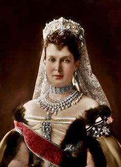 Grand Duchess Maria Pavlovna of Russia (1854–1920) was considered the grandest of the Grand Duchesses. She married the third son of Alexander II of Russia, Grand Duke Vladimir Alexandrovich of Russia (1847–1909) in 1874, being one of the very few princesses with Slavic patriline to ever marry a male dynast of the Holstein-Gottorp-Romanov. Her collection of jewels was one of most fabulous collections to have ever been assembled.