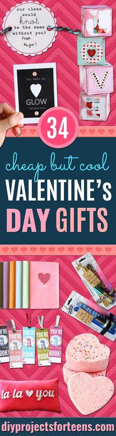 34 Cheap Valentine\'s Gift Ideas for Her | DIY Valentine, Creative ...