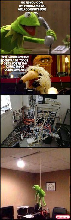 Eu quando estou com preguiça para ageitar meu computador kkkk