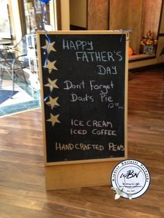 Happy father's day Coffee Ice Cream, Chalkboard Signs, Happy Fathers Day, Don't Forget, Creative, Happy Valentines Day Dad, Forget You