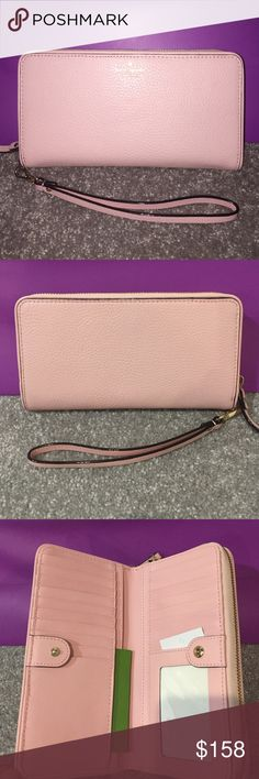 Kate Spade Brigitta Mulberry Street NWT rosejade Kate Spade Brigitta Mulberry Street NWT rosejade. No Trades!  Right side of the first photo has flash left side no flash. It is a pale pink. kate spade Bags Wallets