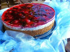 Fit, healthy, style: Ovocný dort s ovesným korpusem Healthy Sweets, Healthy Baking, Diabetic Recipes, Healthy Recipes, Birthday Menu, Birthday Cakes, Healthy Style, Cheesecake, Health Fitness
