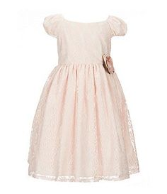 Laura Ashley London Little Girls 2T-6X Lace Floral-Applique Dress