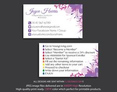 Young Living Business Cards Personalized Card Digital File YL16b