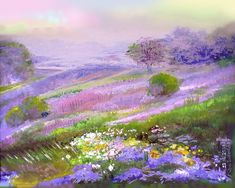 47 Ideas colorful landscape paintings draw for 2019 Pastel Landscape, Watercolor Landscape, Abstract Landscape, Landscape Paintings, Watercolor Paintings, Soft Pastel Art, Pastel Artwork, Pastel Drawing, Guache