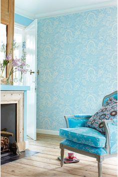 PiP Deerest Peacock Blue wallpaper