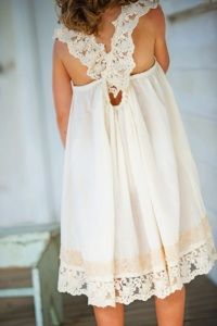 Flower Girl Dress... or, you know, grown up dress, recreated for me to prance in, perhaps on the beach...
