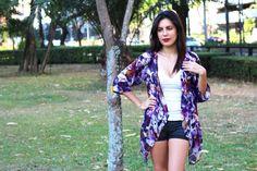 Purple Kimono, Kimono Cardigan, Kimono Robe, Kimono Jacket / Sheer Cover Up - One Size This purple kimono cardigan is perfect for the beach, a casual