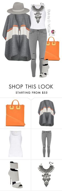 """Untitled #2880"" by stylebydnicole ❤ liked on Polyvore featuring Sophie Hulme, Topshop, American Vintage, Frame Denim, Giuseppe Zanotti, DYLANLEX and Janessa Leone"