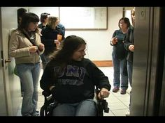 Ashley Anderson is a student at UNI who has cerebral palsy so she has to use a wheelchair to get around. She is interviewed and asked what it's like being on campus and the struggles she goes through. She has to leave her dorm 20 minutes early to get to class on time, she has trouble writing so she can't write notes as fast, boys don't talk to her and she believes its because they're scared of her wheelchair. It's an interesting to hear it from her point of view.