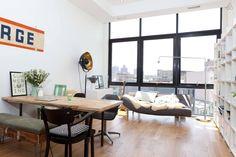 Super Sunny Loft + Manhattan Views