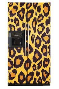 leopard fridge...Omg! Where can I buy one?! ;)