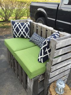 Outdoor #Pallet Bench - DIY | Pallet Furniture