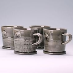 Walter Keeler earthenware inkwash mugs.  What is inkwash? Love it, whatever it is.