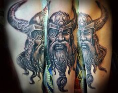 Vikings are some of the coolest and most interesting figures in history, still having a cultural impact today. Norse mythology inspired the creation of the Tattoos Mandala, Tattoos Geometric, Celtic Tattoos, Viking Tattoos, God Tattoos, Tattoos Skull, Life Tattoos, Sleeve Tattoos, Tattoo Sleeves