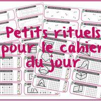 AJOUT : les solides Il y a pas mal d'activités que je veux proposer en rituels, dans le cahier du jour, tant en maths qu'en français. Le petit logo dans le coin est pour rappeler la page de garde...
