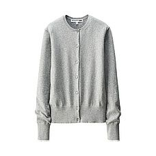 WOMEN Ines Cotton Cashmere Crew Neck Cardigan