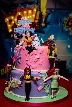 DC Superhero Girls Birthday Cake