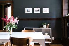 D*S Team Tours: Lauren's Prewar Apartment in Des Moines, IA | Design*Sponge - Sherwin Williams Iron Ore