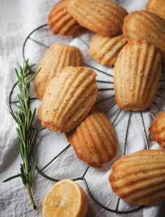 Sweet Lemon + Rosemary Madeleines -a Better Happier St. Sebastian