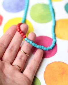 DIY Color Blocked Necklace | The Crafted Life
