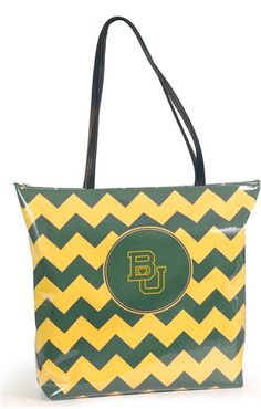 Baylor Bears Chevron Tote - Women's College Game Day Dresses, Clothing, Shoes, Jewelry, Hats, Stadium Stompers, Handbags, Accessories and More!