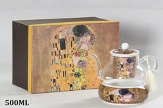 "Gustav Klimt Tee Kaffeekanne ""Der Kuss"" Porzellan/Glas beige Gustav Klimt, Collection, Home Decor, Atelier, China China, Kiss, Nice Asses, Homemade Home Decor, Interior Design"