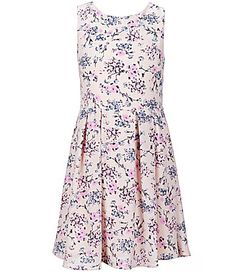 Copper Key Big Girls 716 Sleeveless Floral Printed Skater Dress #Dillards