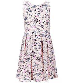 Copper Key Big Girls 716 Sleeveless Floral Printed Skater Dress #Dillards
