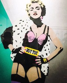 Madonna (detail) by Pegasus Madonna Material Girl, Material Girls, Lucien Smith, Divas Pop, Andy Warhol Pop Art, Madonna Pictures, Hulk Art, Madonna Art, S Icon