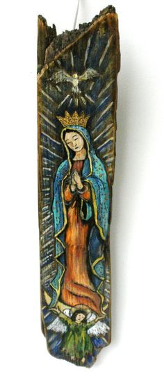 Original Rustic Barn Wood  Our Lady of Guadalupe by Art4thesoul, Sold
