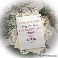 Romantic Card - I Can't Help Falling in Love with You