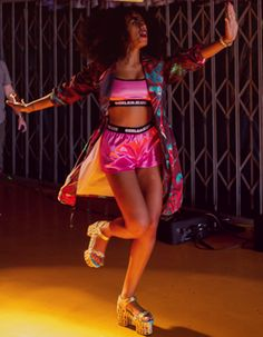 """Still shot of Solange from """"Lovers in the Parking Lot"""" video."""
