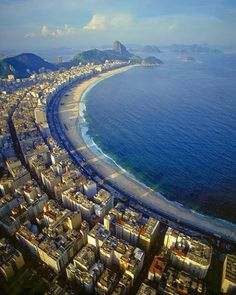 Copacabana Beach, aerial view, Rio de Janeiro, Brazil - Travel tips - Travel tour - travel ideas Vacation Places, Dream Vacations, Vacation Spots, Places To Travel, Travel Destinations, Copacabana Beach, Places Around The World, The Places Youll Go, Places To See