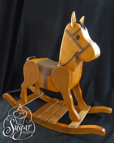 3D rocking horse birthday cake
