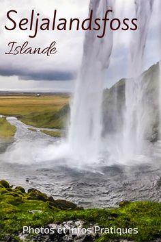 Découvrez la Cascade de Seljalandsfoss Islande - 60 mètres de haut et surtout la possibilité de marcher derrière - Une expérience pour tout les sens avec le grondement de l'eau et la bruine qui se dépose sur votre visage. Plein de photos et des infos pratiques dans l'article. Destinations, Les Cascades, Fjord, Destination Voyage, Photos Voyages, Niagara Falls, Waterfall, Road Trip, Travel