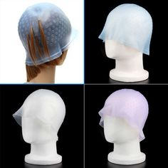HOt 1 Pcs Professional Reusable Hair Colouring Highlighting Dye Cap With Hook Frosting Tipping Color Styling Tools High Quality