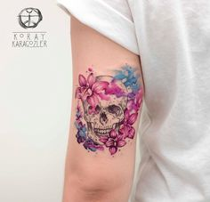 60 best skull tattoo designs and ideas - tattoo designs- 60 besten Schädel Tattoo Designs und Ideen – Tattoo Motive 60 best skull tattoo designs and ideas - Girly Tattoos, Trendy Tattoos, Flower Tattoos, Body Art Tattoos, Tattoos For Guys, Skull Tattoo Flowers, Tattoo Floral, Blue Orchid Tattoo, Thigh Tattoos For Women