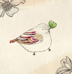 Fat bird illustration sweets 65 ideas for 2019 Little Birds, Love Birds, Beautiful Birds, Fat Bird, Little Doodles, Bird Illustration, Animal Illustrations, Beatrix Potter, Land Art