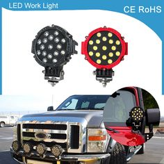 check price 1 piece 7inch 51w car round led work light 12v 24v high power 7 17x3w spot light for #led #driving #lights