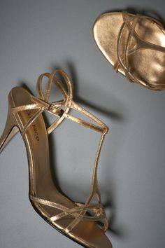 Plaited gold heels at BHLDN... $ 80, plus an additional 40% off with promo code