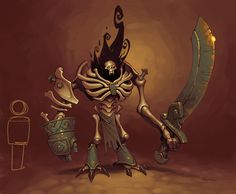 "Bone Golem from ""Torchlight 2"" by Mike Franchina"