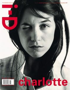 i-D Magazine, The Memory Issue, December 2001 Model: actress Charlotte Gainsbourg Photographer: Michel Momy