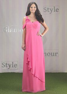eb217a9d97 Chiffon One Shoulder Grecian Bridesmaid Dress
