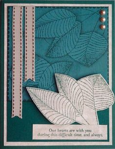 Comfort zone cards leaves
