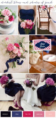 Darkest Blues & Shades Of Pink | Wedding Inspiration - Want That Wedding